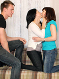 Two Beautiful Babes Give Head And Get Dicks In Wet Pussies - Picture 4