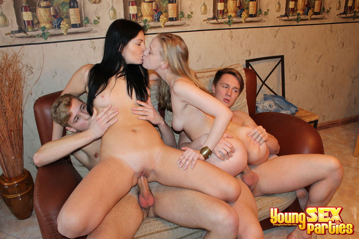 Hot Foursome Orgy Fuck